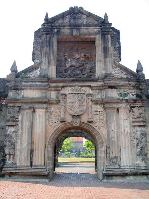 Picture of  The Gateway of Fort Santiago, Manila, The Philippines is shown on this page