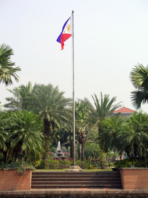 Picture of  The National Flag at Fort Santiago, Manila, The Philippines is shown on this page
