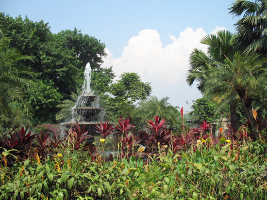 Picture of  The Fountain at Fort Santiago, Manila, The Philippines is shown on this page