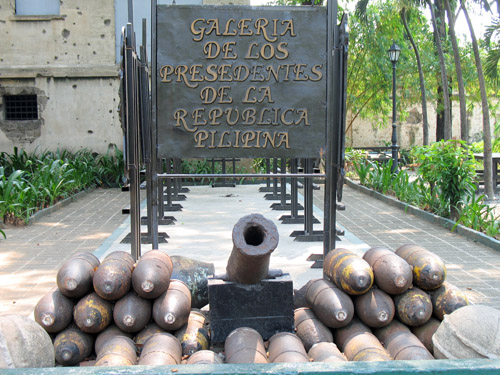 Picture of  The Cannon and Shells, Fort Santiago, Manila, The Philippines is shown on this page