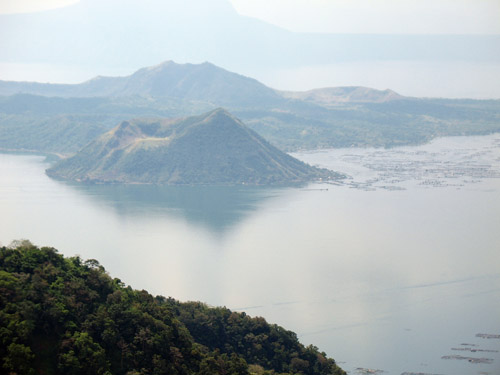 Picture of  a Mountain View of Lake Taal, The Philippines is shown on this page