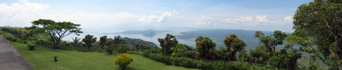 Picture of   Lake Taal from Taal Vista, The Philippines is shown on this page