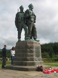 the commando memorial closeup scotland picture