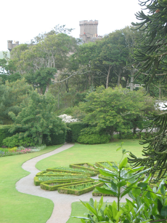 view over dunvagan castle gardens scotland picture
