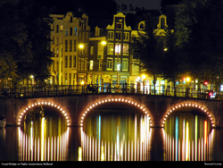 Free Canal at Night in AMsterdam, Holland, Wallpaper
