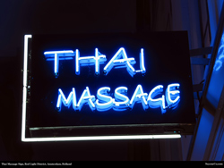Free Thai Massage Sign, Red Light District, Amsterdam, Holland, Desktop Wallpaper